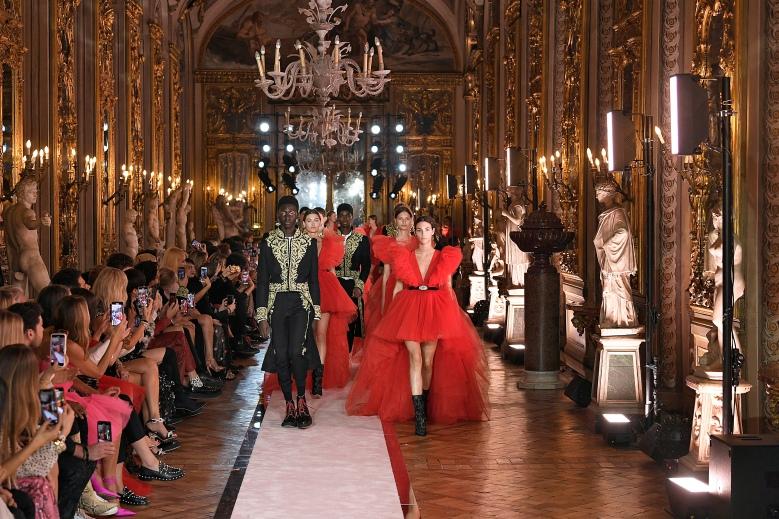 Giambattista Valli x HM fashion show, Ready To Wear collection in Rome